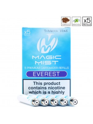 Gamucci Compatible Cartomizers (MagicMist - Everest) 5 Cartomizers Per Pack
