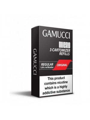 Gamucci Micro Cartomizers Original (ALL STRENGTHS)