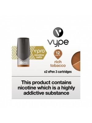 Vype ePen 3 Vpro Pods - Rich Tobacco